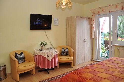 Blick in ein Gästezimmer