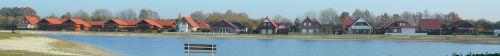 Blick auf den See im Seepark Eiken