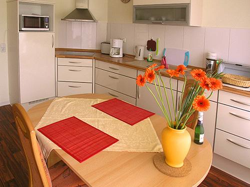 Ferienwohnung am Rosenteich - Küche