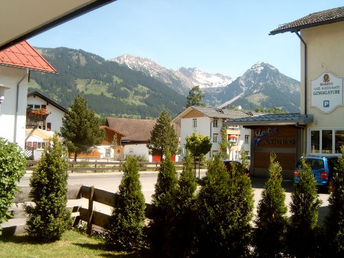 Blick vom Balkon aufs Rubihorn