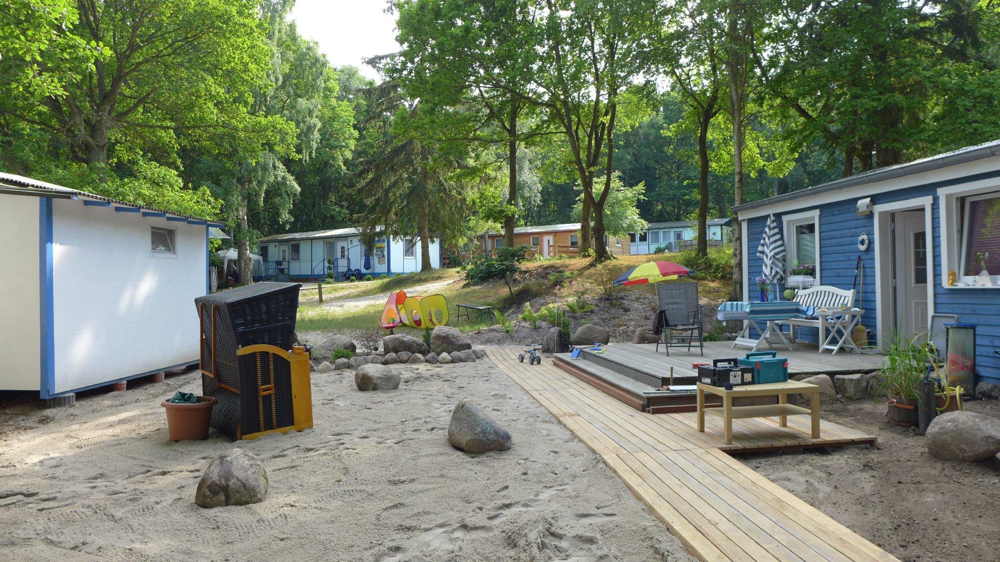 Lageplan der strandnahen Ferienanlage