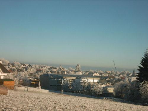 Blick über Kemel im Winter