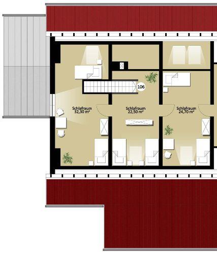 Grundriss Nr. 106 Dachgeschoss