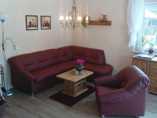 Wohnzimmer mit Ledereckchouch