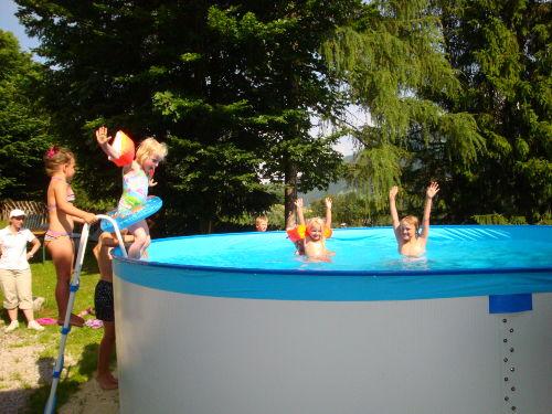 Pool Sommerurlaub Bauernhof Leogang