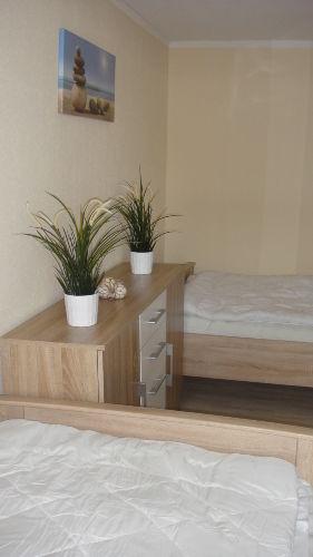 Schlafzimmer mit 2 separaten Betten