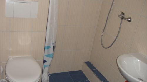 Sanit�rzelle mit DU, WC, u. Waschtisch