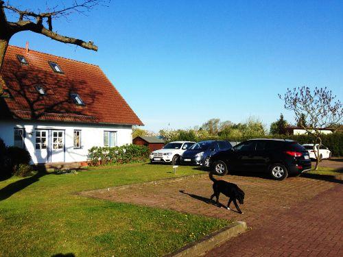 Haus , Parkplatz und Lilly