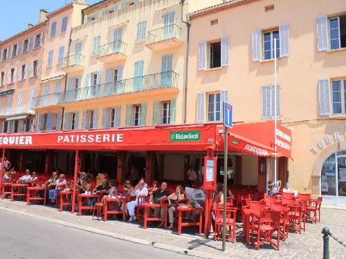 ST. TROPEZ Cafe Senequier a.d. Promenade