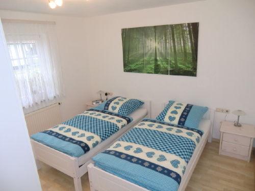 Grosses Schlafzimmer mit 2 Einzelbetten