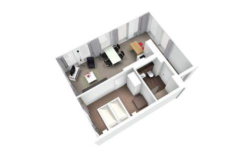 3D-Ansicht der Suite