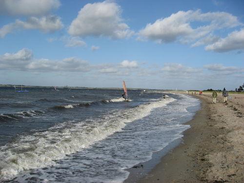 Strand in Langbaligau Dänemark in Sicht