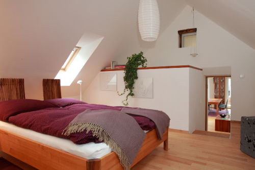 Das Schlafzimmer im Appartement Violet