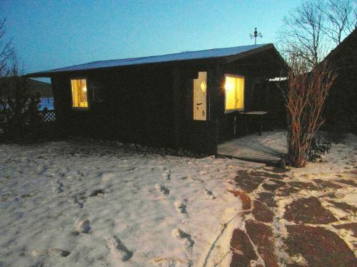 Wellness-Blockhaus mit Sauna
