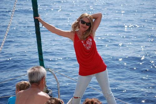 Delphine und Wale besuchen