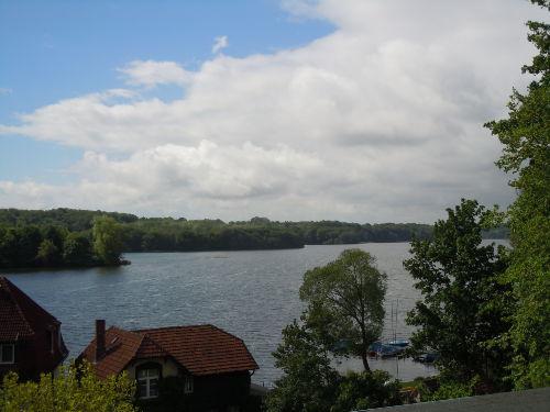 Blick vom Balkon auf den Kellersee