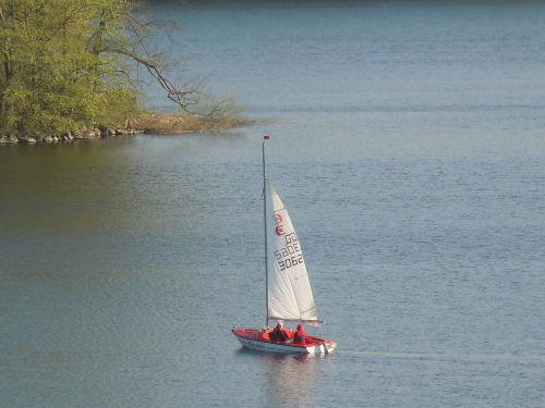 Segler auf dem Kellersee