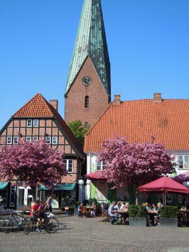 Eutiner Marktplatz im Frühling