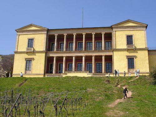 Die Villa Ludwigshöhe oberhalb Rhodts