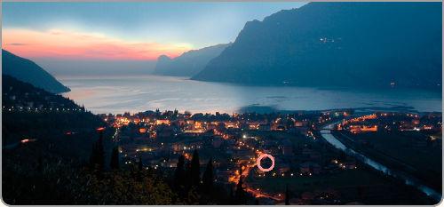 Nacht Blick aus Torbole