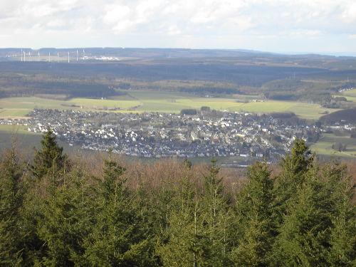 Blick auf Rheinböllen