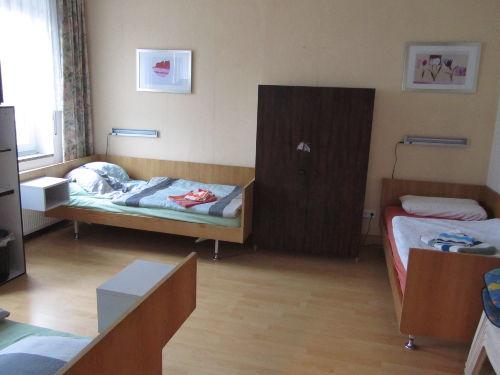 Schlafzimmer 2 mit 3 Einzelbetten