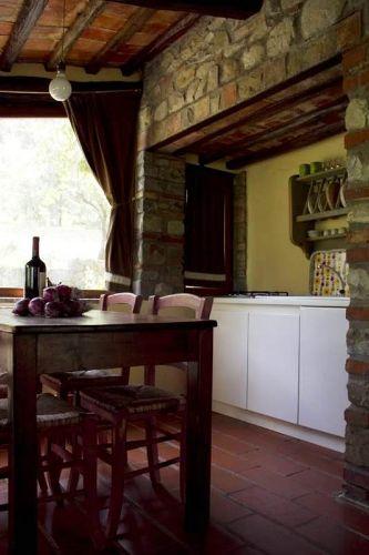 Die Küchenzeile und Esstisch