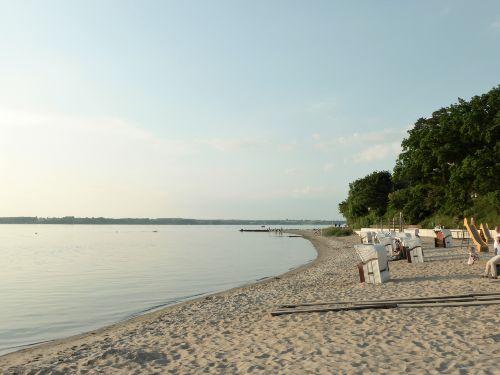 .. den Strand entlang Richtung Schwennau