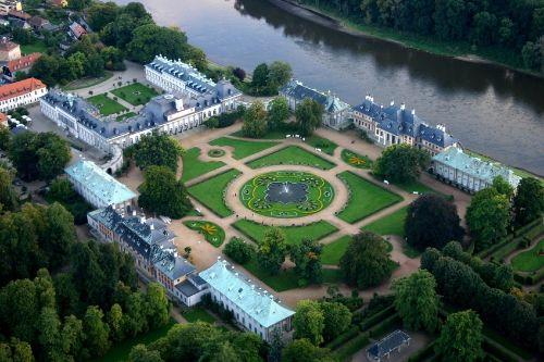 Luftaufnahme Schloss u. Park Pillnitz