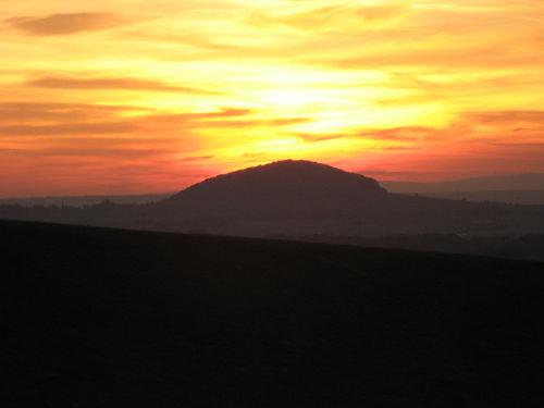 Sonnenuntergang im Westen