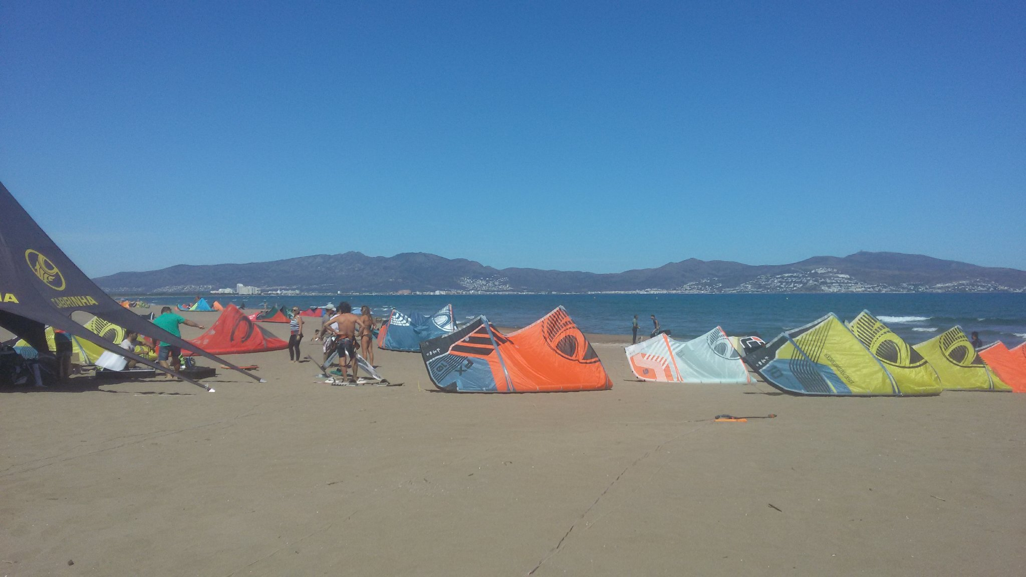 Kiten am Strand
