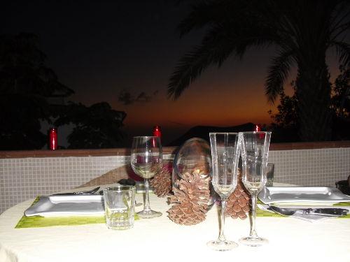 Auf der Terrasse bei Nacht