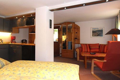 Schlaf-Wohnbereich (links Küchenzeile)