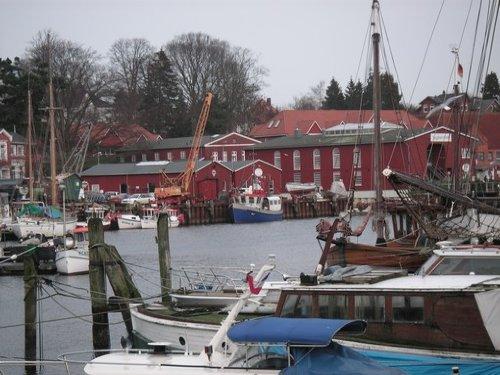 Gemütlicher Hafen in Eckernförde