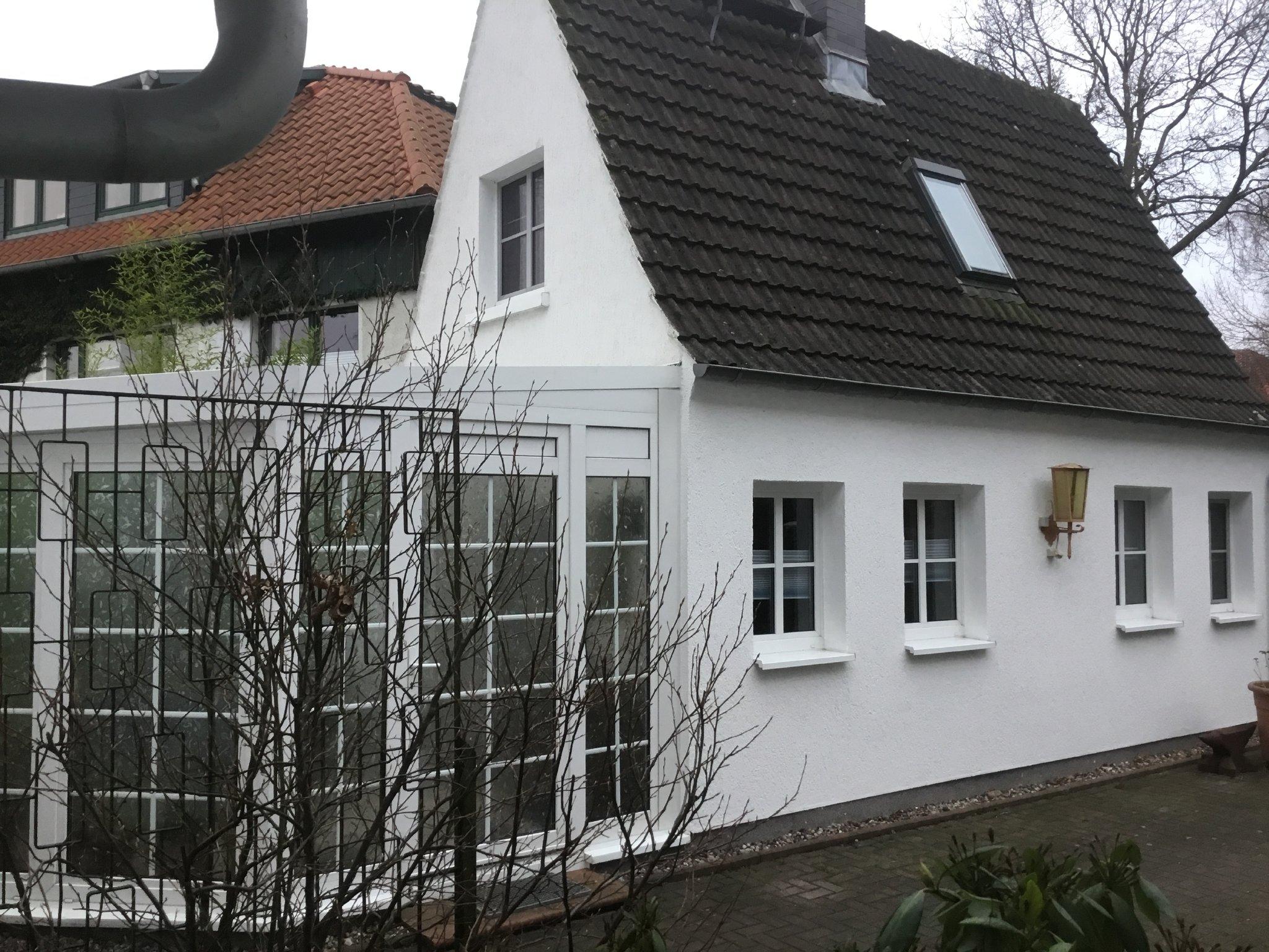 Wintergarten = Eingang & Esszimmer