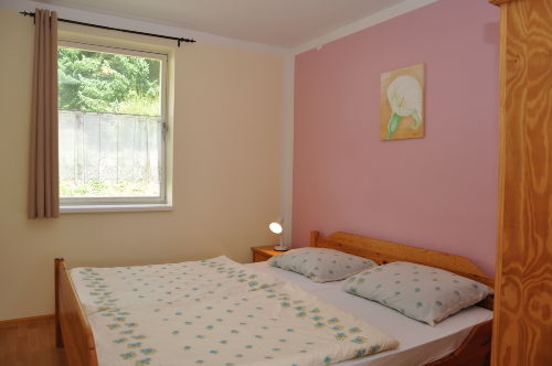 Blick in ein Ferienhaus (Schlafzimmer)