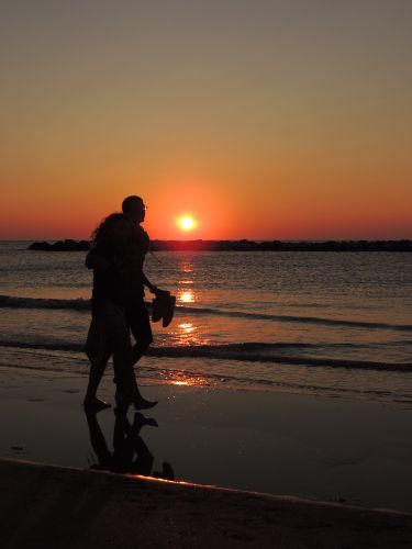 Ein romantischer Sonnenaufgang