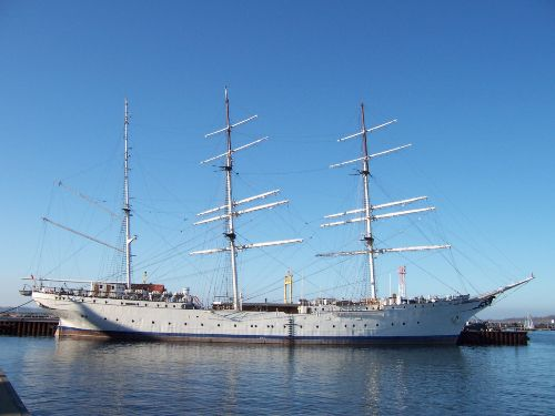 die Gorch Fock 1 in Stralsund