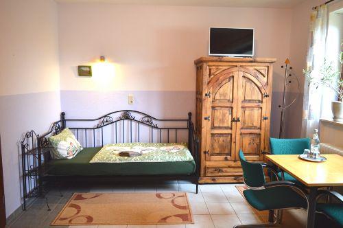 Einzelbett im Toskana Dreibettzimmer