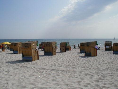 Sandstrand, Strandkorb, Sonne + Me(e)hr