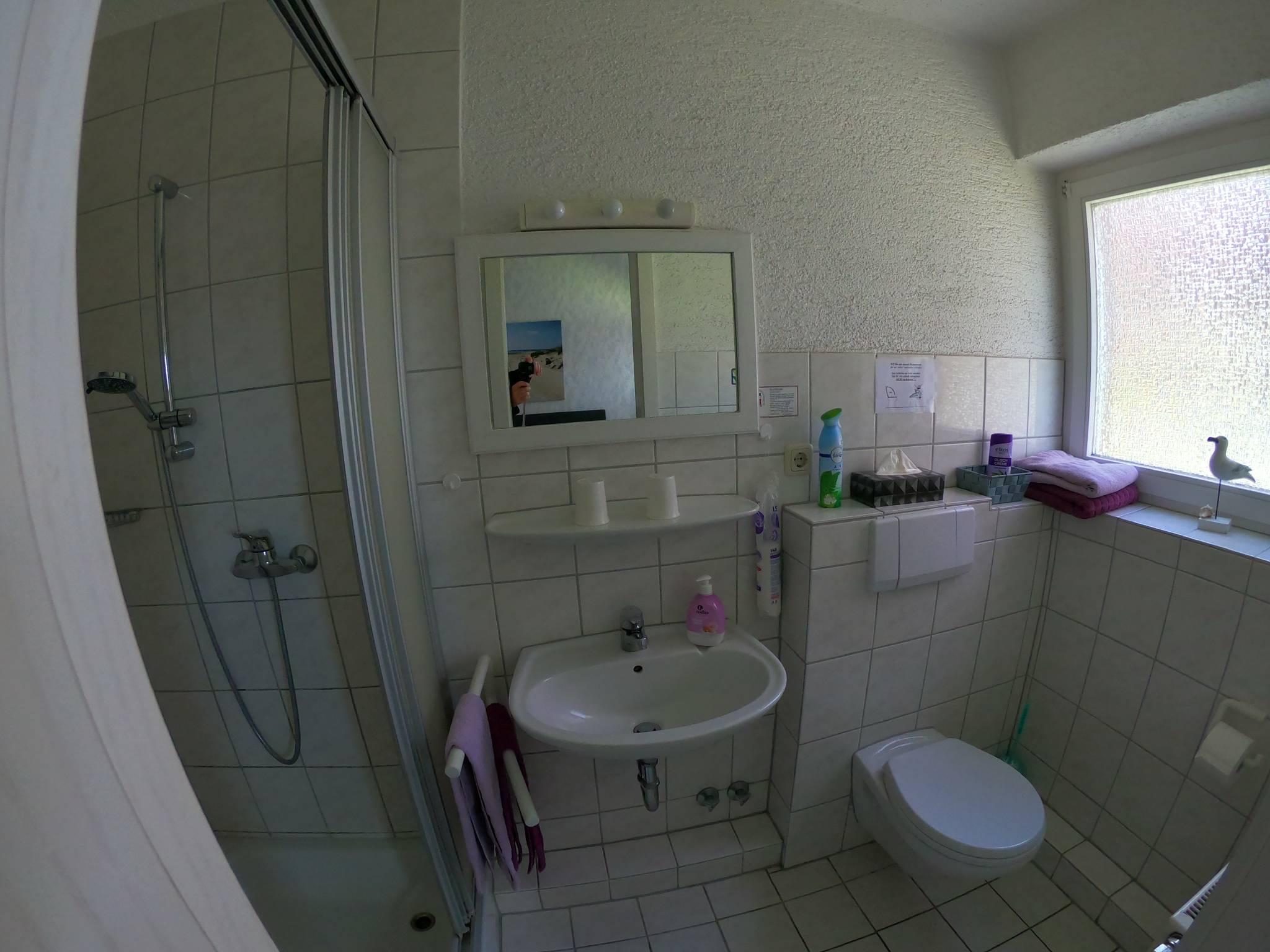 Badezimmer, Dusche, Waschtisch, WC