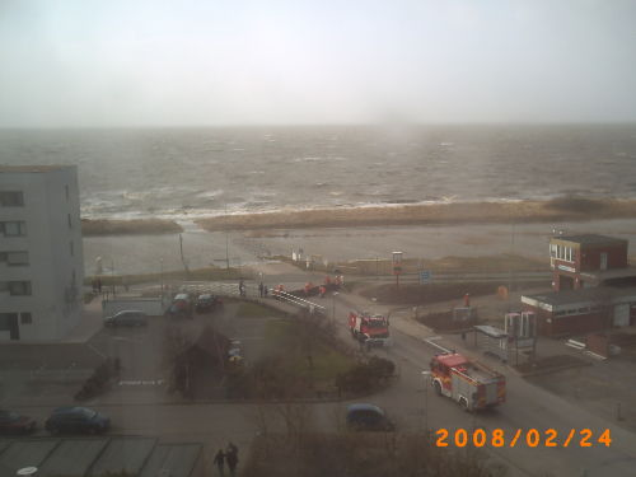 Leichte Sturmflut Feb. 2008