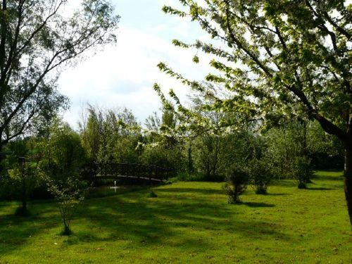Wiese mit Teich auf dem Wiesenhof