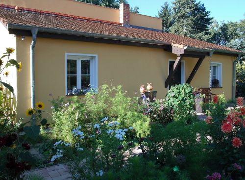 Ferienhaus im Herbst
