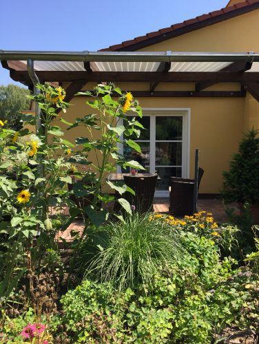 überdachte Terrasse am Ferienhaus