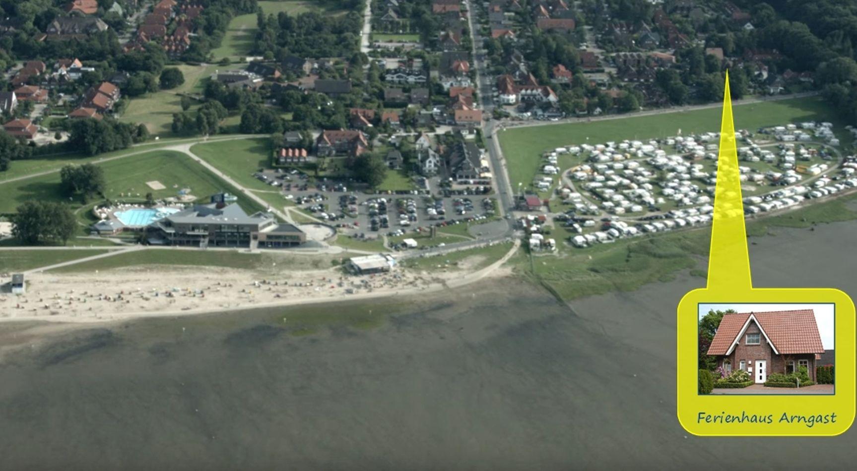 Lage des Ferienhauses in Dangast