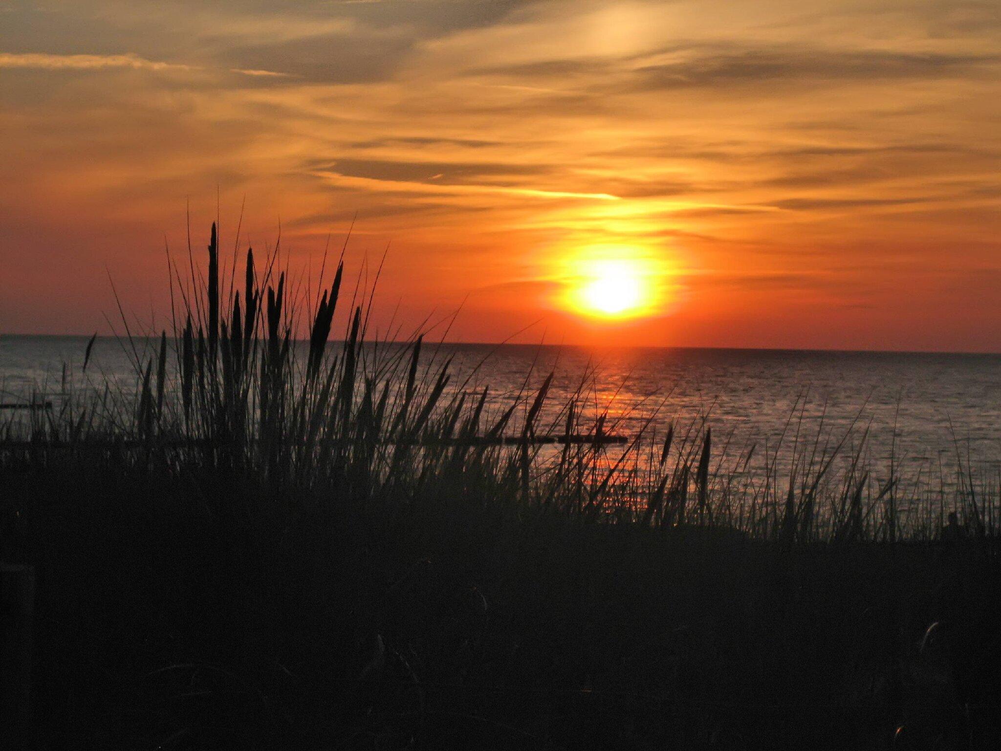 Sonnenuntergang am Zingster Strand