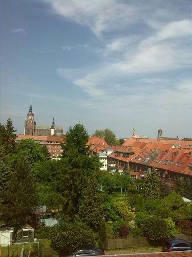 Blick auf die Hauptkirchen der Stadt