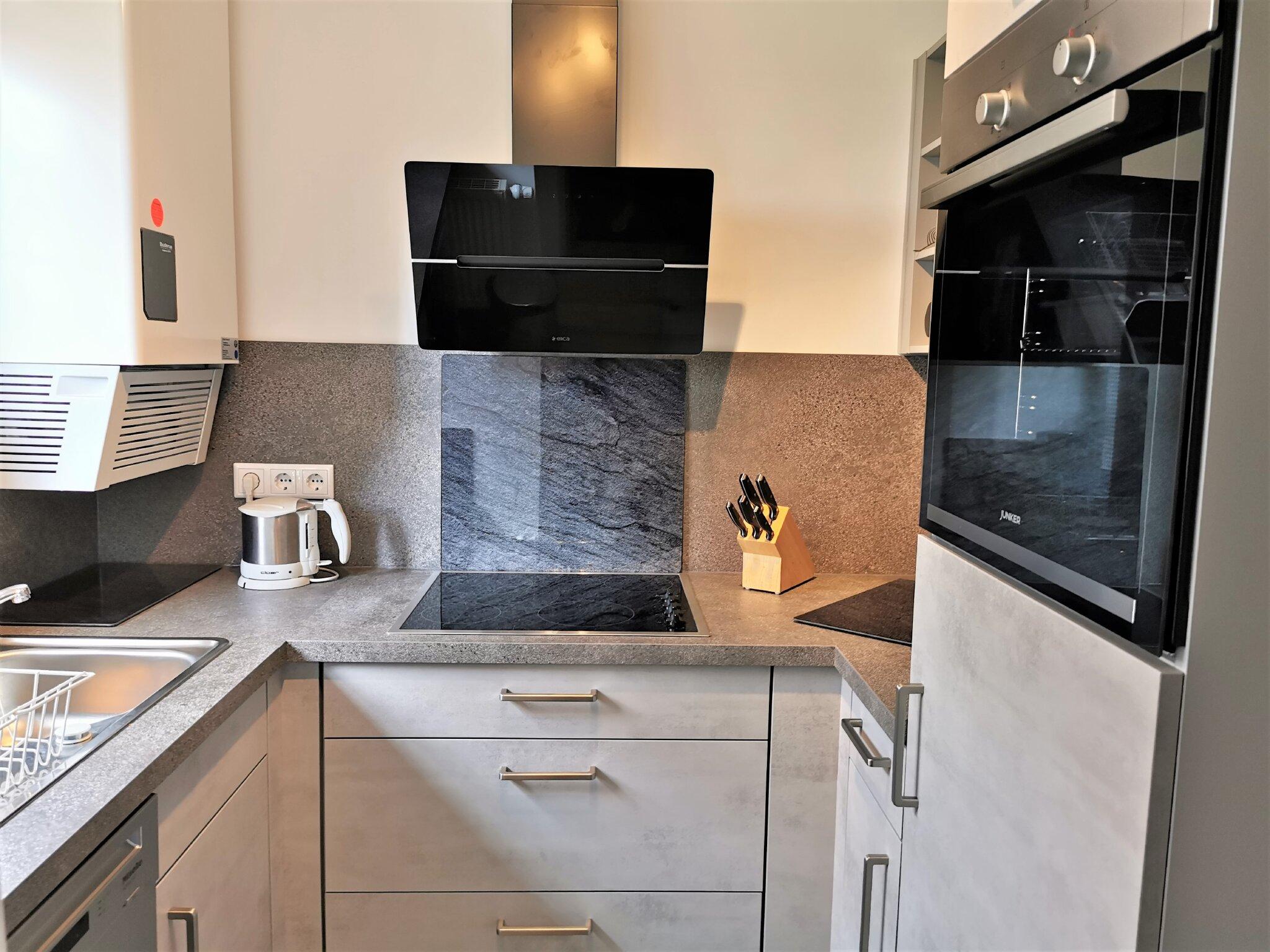 Die separate Küche mit Tageslicht