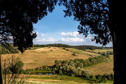 Blick von der Loggia in die Landschaft